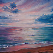 Картины и панно handmade. Livemaster - original item The picture of the gentle sunset on canvas 30h40, oil. Handmade.