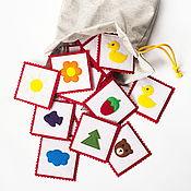 Куклы и игрушки ручной работы. Ярмарка Мастеров - ручная работа Развивающая игра из фетра Мемори, игра парочки из фетра. Handmade.