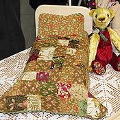 Куклы и игрушки ручной работы. Ярмарка Мастеров - ручная работа Кроватка для зверюшки или куклы (тёмный комплект). Handmade.