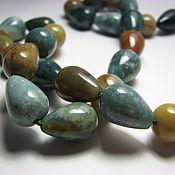 Материалы для творчества handmade. Livemaster - original item Chalcedony drops (Indian agate) 14h10. Handmade.