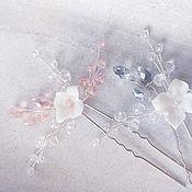 Украшения ручной работы. Ярмарка Мастеров - ручная работа Шпильки в причёску невесты. Handmade.