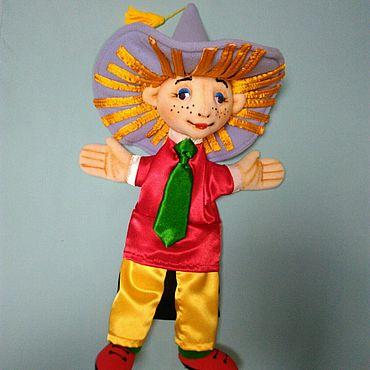 Куклы и игрушки ручной работы. Ярмарка Мастеров - ручная работа Незнайка. Перчаточная театральная кукла. Handmade.