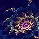 Кулоны, подвески ручной работы. Кулон Space flowers, lampwork. Ольга  Бабкина  -  BonBijou. Ярмарка Мастеров. Кулон лэмпворк