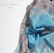 Аксессуары ручной работы. Ярмарка Мастеров - ручная работа Платок батик Летний день, шелковый платок. Handmade.