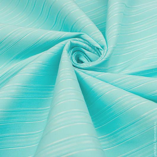 Шитье ручной работы. Ярмарка Мастеров - ручная работа. Купить Хлопок   блузочно-рубашечный ESCADA бирюзовый. Handmade. Ткани Италии