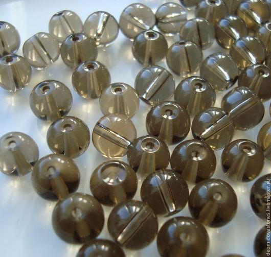 Для украшений ручной работы. Ярмарка Мастеров - ручная работа. Купить Раухтопаз (дымчатый кварц) бусины, диаметр 8 мм.. Handmade.