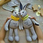 Куклы и игрушки ручной работы. Ярмарка Мастеров - ручная работа Ручные зайцы. Handmade.