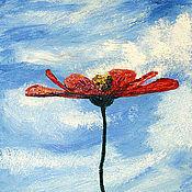 """Картины и панно ручной работы. Ярмарка Мастеров - ручная работа Картина масло """"Цветы. Космея."""". Handmade."""