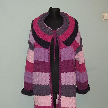 """Одежда ручной работы. Ярмарка Мастеров - ручная работа Вязанное пальто """" Розовая сирень"""". Handmade."""
