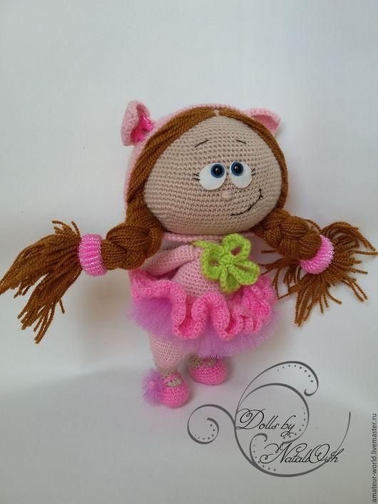 Человечки ручной работы. Ярмарка Мастеров - ручная работа. Купить Кукла Малышка Бонни в костюме свинки. Handmade. Розовый