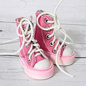 Материалы для творчества ручной работы. Ярмарка Мастеров - ручная работа Кеды 3,8см, высокие. Очень маленькие!! Обувь для кукол.. Handmade.