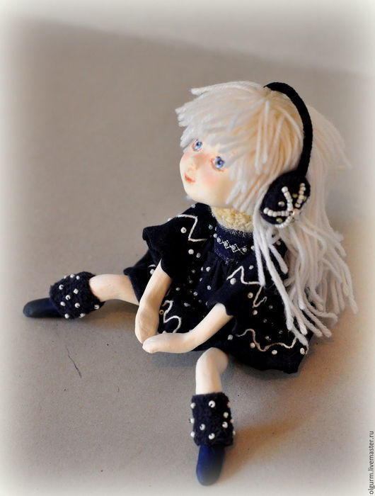"""Коллекционные куклы ручной работы. Ярмарка Мастеров - ручная работа. Купить Авторская кукла Мечталка """"Nocturne"""" продана.. Handmade."""