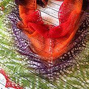 Аксессуары ручной работы. Ярмарка Мастеров - ручная работа Шаль из тонкой Кауни Настроение. Handmade.
