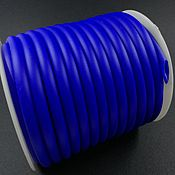 Материалы для творчества handmade. Livemaster - original item Rubber hollow cord 5 mm BLUE (Ref. 2991). Handmade.