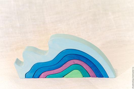 Развивающие игрушки ручной работы. Ярмарка Мастеров - ручная работа. Купить Пирамидка Вода. Handmade. Комбинированный, Конструктор, деревянные