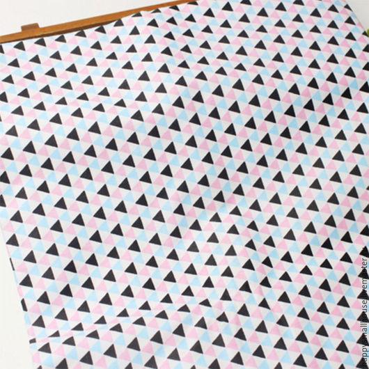 Шитье ручной работы. Ярмарка Мастеров - ручная работа. Купить Ткань треугольники. Handmade. Ткань, ткань для творчества, ткань для шитья