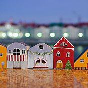Элементы интерьера ручной работы. Ярмарка Мастеров - ручная работа Деревянные домики декор для дома. Handmade.
