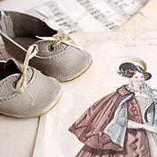Куклы и игрушки ручной работы. Ярмарка Мастеров - ручная работа Туфельки для антикварной куклы. Handmade.