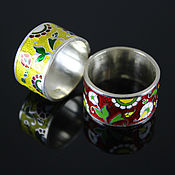 Украшения handmade. Livemaster - original item Flower garden ring in 925 sterling silver and enamel. Handmade.