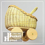 """Куклы и игрушки handmade. Livemaster - original item Плетёная коляска для куклы """"Боня"""". Handmade."""