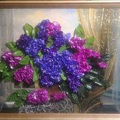 Картины ручной работы. Ярмарка Мастеров - ручная работа Сирень в вазе. Handmade.