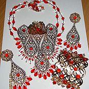 """Украшения ручной работы. Ярмарка Мастеров - ручная работа Комплект """"Индийские сказки"""". Handmade."""