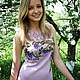 """Платья ручной работы. Ярмарка Мастеров - ручная работа. Купить Платье летнее """"Райский сад"""". Handmade. Сиреневый, платье вязаное"""