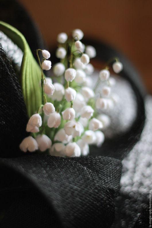 """Шляпы ручной работы. Ярмарка Мастеров - ручная работа. Купить Эксклюзивная шляпа """"Un bouquet de muguets"""" (Букет ландышей). Handmade."""