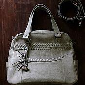 Сумки и аксессуары handmade. Livemaster - original item Women`s bag made of genuine leather over the shoulder with plaits. Handmade.