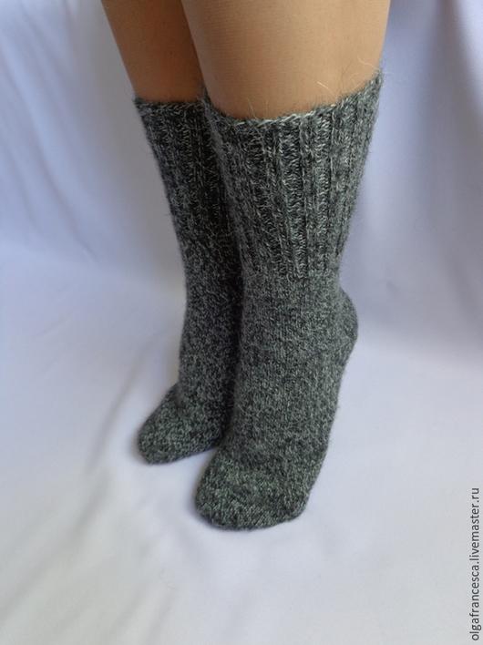 Носки, чулки ручной работы. Носки вязаные. Носочки вязаные «Строгие меланжевые» из коллекции «Подарки». Olgafrancesca . Ярмарка мастеров.
