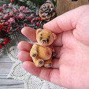 Куклы и игрушки ручной работы. Ярмарка Мастеров - ручная работа Микро-мишка Ким. Handmade.