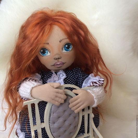 Коллекционные куклы ручной работы. Ярмарка Мастеров - ручная работа. Купить Текстильная куколка Злата. Handmade. Текстильная кукла, хлопок