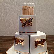 """Посуда ручной работы. Ярмарка Мастеров - ручная работа Набор для специй """"Золотые бабочки"""". Handmade."""