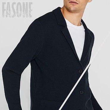 Clothing handmade. Livemaster - original item Jackets: Men`s cardigan blue cotton