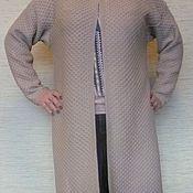 Одежда ручной работы. Ярмарка Мастеров - ручная работа кардиган бежевый машинной вязки. Handmade.
