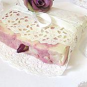 Косметика ручной работы. Ярмарка Мастеров - ручная работа Bella Rose натуральное мыло с нуля Люкс Подарок девушке женщине. Handmade.