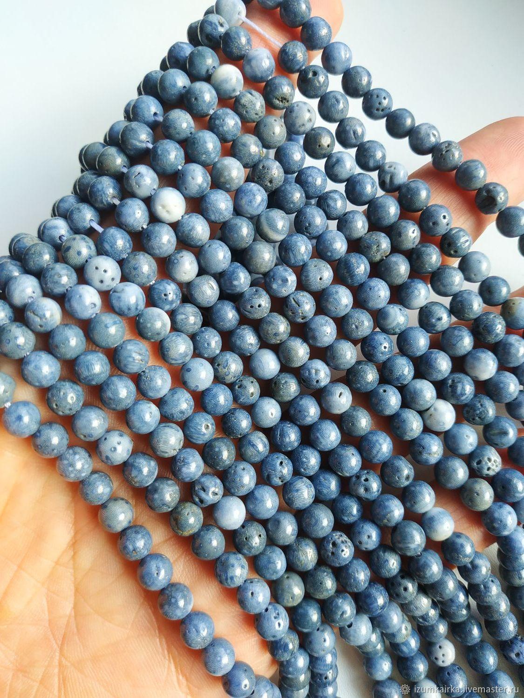 Синий Коралл 6.5мм (арт 500) Э, Бусины, Москва,  Фото №1