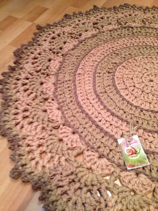 """Текстиль, ковры ручной работы. Ярмарка Мастеров - ручная работа. Купить """"Пастель"""" - Вязаный Коврик круглый. Handmade. Мягкость, полиэфирный"""
