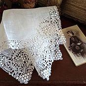 Винтаж ручной работы. Ярмарка Мастеров - ручная работа Старинный дамский платочек. Handmade.