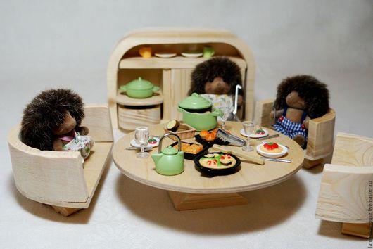 Кукольный дом ручной работы. Ярмарка Мастеров - ручная работа. Купить Обеденный гарнитур (sylvanian families). Handmade. Комбинированный