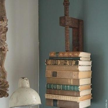 Для дома и интерьера ручной работы. Ярмарка Мастеров - ручная работа Оригинальная книжная полка в стиле лофт. Handmade.