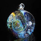 Украшения handmade. Livemaster - original item Pendant ball galaxy Extraterrestrial. Lampwork Glass Universe Space. Handmade.