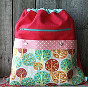 Сумки и аксессуары ручной работы. Ярмарка Мастеров - ручная работа Школьный рюкзак для сменной обуви. Handmade.