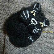 """Украшения ручной работы. Ярмарка Мастеров - ручная работа Брошь """"Чёрный Кот"""". Handmade."""