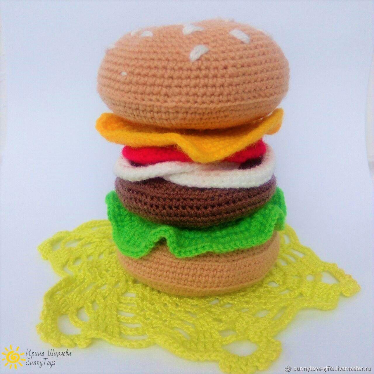 Knitted pyramid Hamburger, Play sets, Berezovsky,  Фото №1