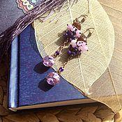 """Украшения ручной работы. Ярмарка Мастеров - ручная работа """"Сиреневый блик"""" серьги. Handmade."""