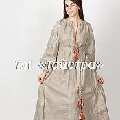 Одежда ручной работы. Ярмарка Мастеров - ручная работа Платье  женское с вышивкой,лен,бохо, этно стиль  Vita Kin,Bohemian. Handmade.