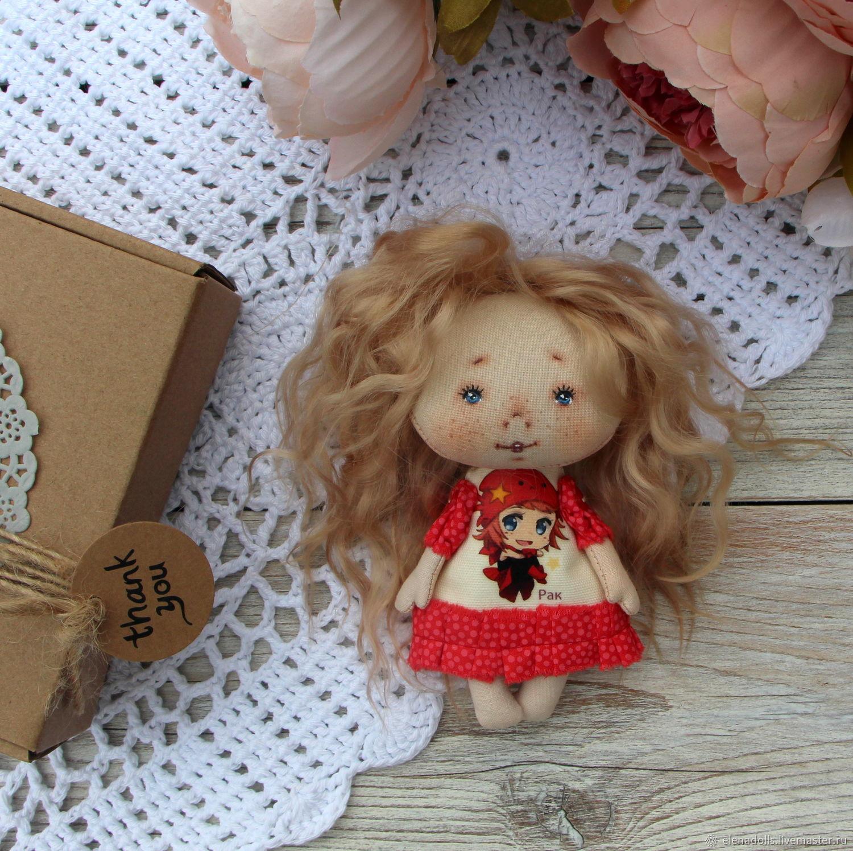 Textile baby doll.Horoscope. Textile doll to buy, Dolls, Krasnodar,  Фото №1