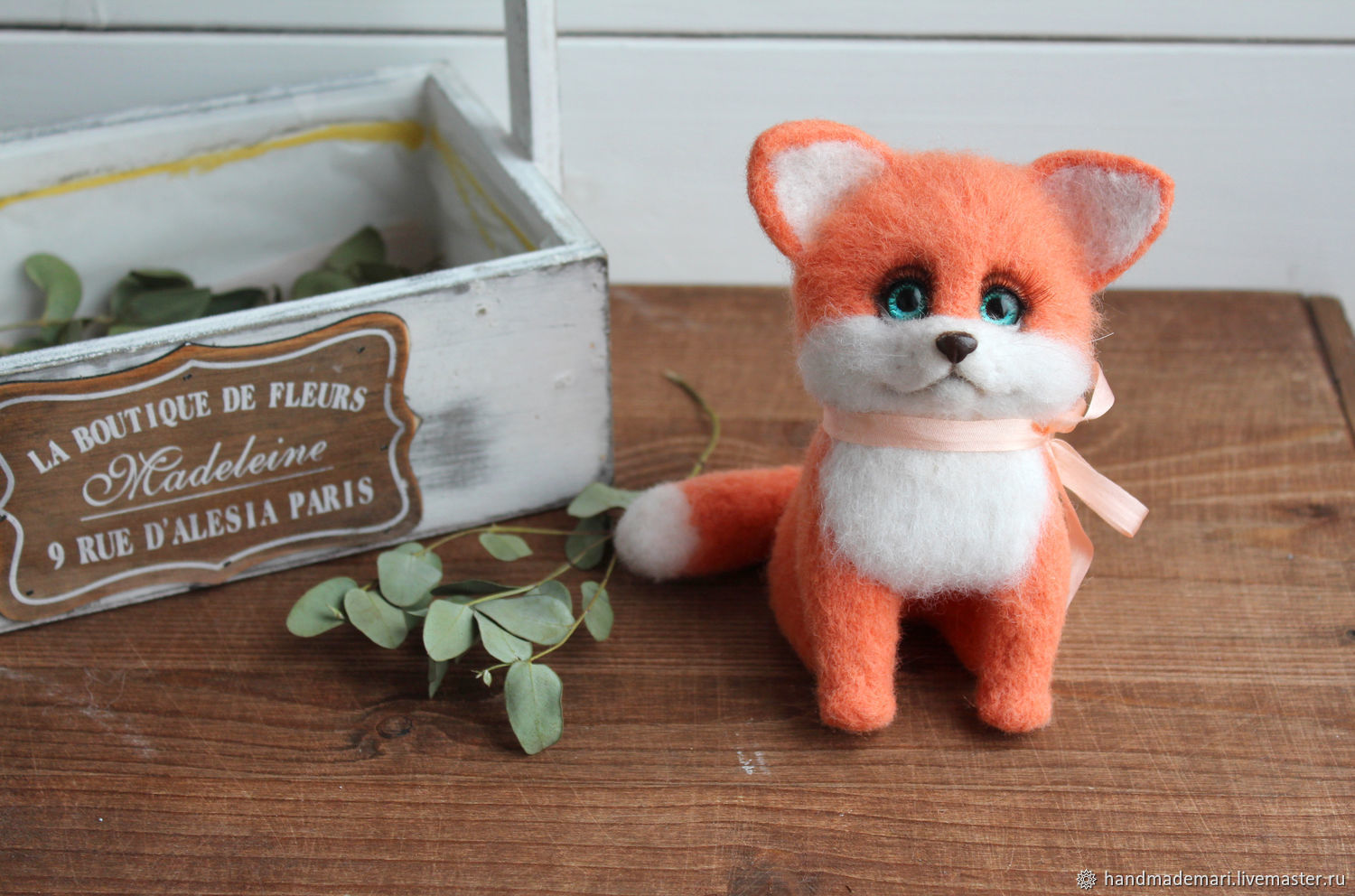 A Fox cub is a toy made of wool, Felted Toy, Moscow,  Фото №1