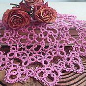 """Для дома и интерьера ручной работы. Ярмарка Мастеров - ручная работа салфетка """"Задумчивые цветы"""". Handmade."""